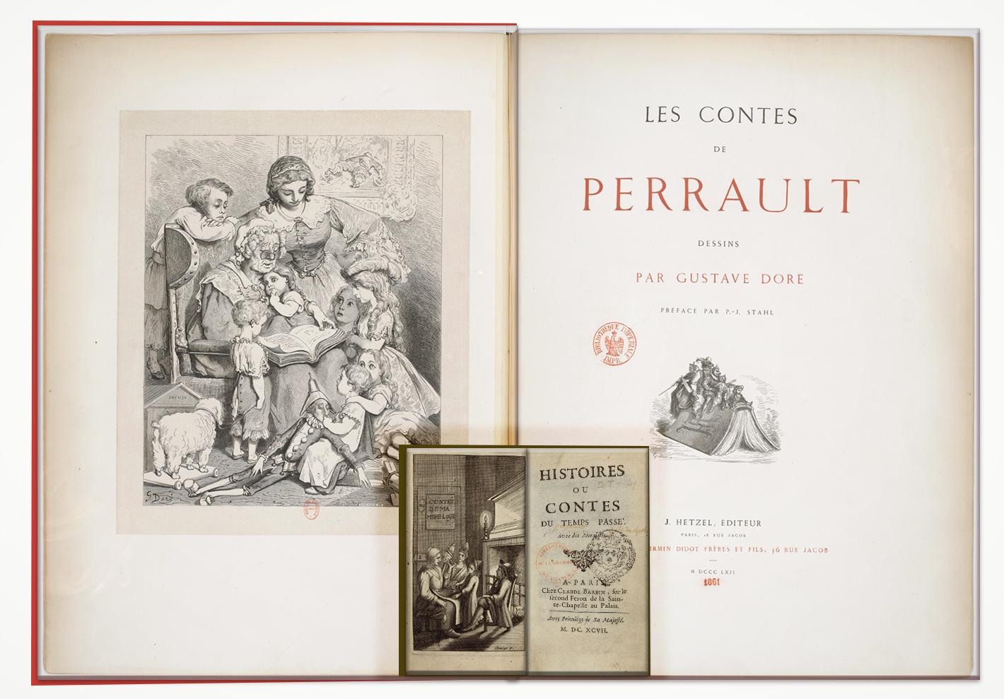 Format de l'édition Hetzel comparée à celui de l'édition Barbin des contes de Perrault